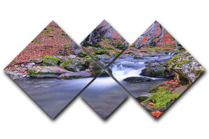 Autumn landscape lake 4 Square Multi Panel Canvas  - Canvas Art Rocks - 1