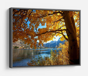 Autumn mountain lake HD Metal Print