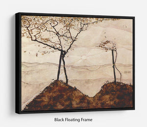 Autumn sun and trees by Egon Schiele Floating Frame Canvas - Canvas Art Rocks - 1