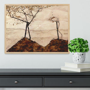 Autumn sun and trees by Egon Schiele Framed Print - Canvas Art Rocks - 4