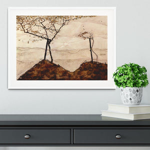 Autumn sun and trees by Egon Schiele Framed Print - Canvas Art Rocks - 5