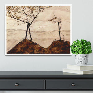 Autumn sun and trees by Egon Schiele Framed Print - Canvas Art Rocks -6