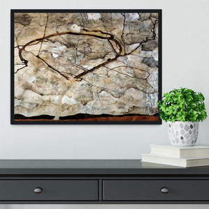 Autumn tree in the wind Egon Schiele Framed Print - Canvas Art Rocks - 2