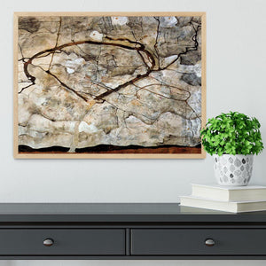 Autumn tree in the wind Egon Schiele Framed Print - Canvas Art Rocks - 4