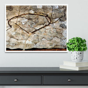 Autumn tree in the wind Egon Schiele Framed Print - Canvas Art Rocks -6