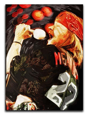Axl Rose Guns and Roses Canvas Print or Poster  - Canvas Art Rocks - 1