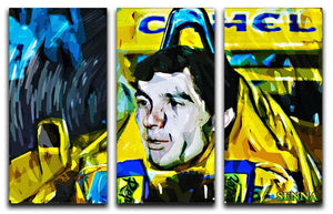 Ayrton Senna 3 Split Panel Canvas Print - Canvas Art Rocks - 1
