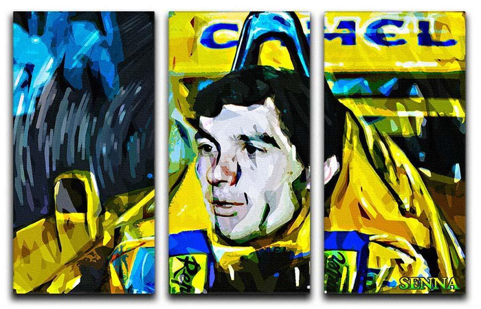 Ayrton Senna 3 Split Panel Canvas Print