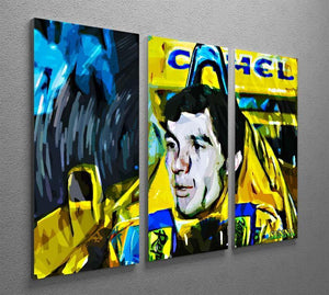 Ayrton Senna 3 Split Panel Canvas Print - Canvas Art Rocks - 2