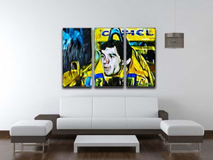 Ayrton Senna 3 Split Panel Canvas Print - Canvas Art Rocks - 3