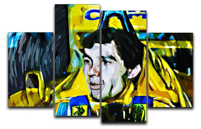 Ayrton Senna 4 Split Panel Canvas