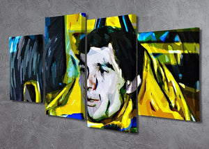 Ayrton Senna 4 Split Panel Canvas - Canvas Art Rocks - 2