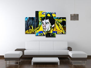 Ayrton Senna 4 Split Panel Canvas - Canvas Art Rocks - 3