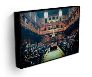 Banksy Monkey Parliament Print - Canvas Art Rocks - 3