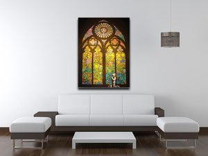 Banksy Stained Glass Window Print - Canvas Art Rocks - 4