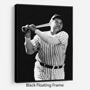 Babe Ruth Floating Frame Canvas
