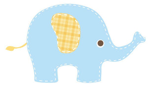 Baby Blue Elephant Wall Sticker - Canvas Art Rocks - 3