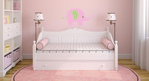 Baby Pink Elephant Wall Sticker - Canvas Art Rocks - 1