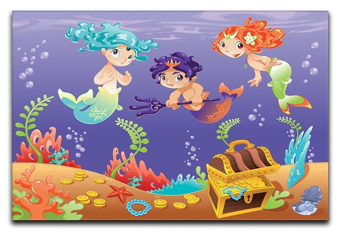 Baby Sirens and Baby Triton Canvas Print or Poster