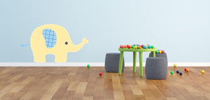 Baby Yellow Elephant Wall Sticker - Canvas Art Rocks - 1