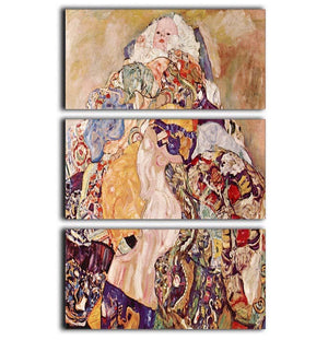 Baby by Klimt 3 Split Panel Canvas Print - Canvas Art Rocks - 1