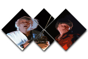 Back To The Future 4 Square Multi Panel Canvas  - Canvas Art Rocks - 1