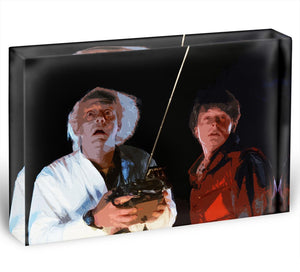 Back To The Future Acrylic Block - Canvas Art Rocks - 1