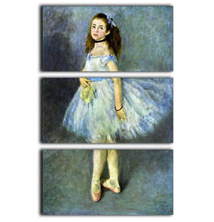 Ballet Dancer by Renoir 3 Split Panel Canvas Print - Canvas Art Rocks - 1