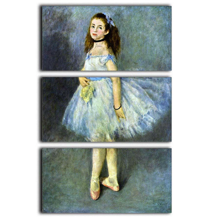 Ballet Dancer by Renoir 3 Split Panel Canvas Print