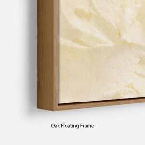 Banana Ice Cream Floating Frame Canvas