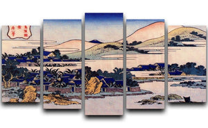Banana plantation at Chuto by Hokusai 5 Split Panel Canvas  - Canvas Art Rocks - 1
