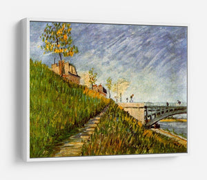 Banks of the Seine with Pont de Clichy by Van Gogh HD Metal Print