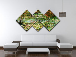 Banks of the Seine with Pont de Clichy in the Spring by Van Gogh 4 Square Multi Panel Canvas - Canvas Art Rocks - 3