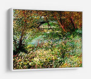 Banks of the Seine with Pont de Clichy in the Spring by Van Gogh HD Metal Print