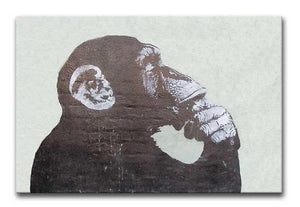 Banksy The Thinker Monkey Print - Canvas Art Rocks - 1