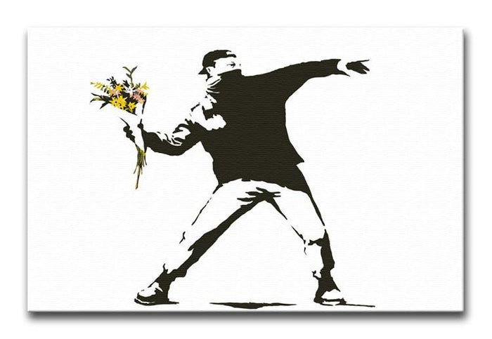 Banksy Flower Thrower Canvas Print or Poster