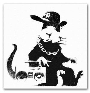 Banksy Gangster Rat Print - Canvas Art Rocks