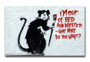 Banksy I'm Out Of Bed And Dressed Print - Canvas Art Rocks - 2