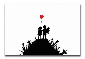 Banksy Kids on Gun Hill Print - Canvas Art Rocks - 2