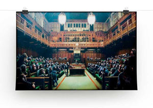 Banksy Monkey Parliament Print - Canvas Art Rocks - 2