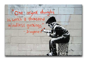 Banksy One Original Thought Print - Canvas Art Rocks - 1