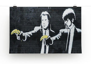 Banksy Pulp Fiction Banana Guns Print - Canvas Art Rocks - 1