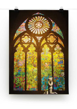 Banksy Stained Glass Window Print - Canvas Art Rocks - 2