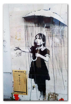 Banksy Umbrella Girl Print - Canvas Art Rocks - 1