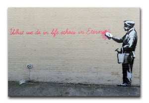 Banksy What We Do In Life Print - Canvas Art Rocks - 1