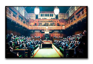 Banksy Monkey Parliament Print - Canvas Art Rocks - 1