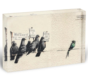 Banksy Anti-Immigration Birds Acrylic Block - Canvas Art Rocks - 1