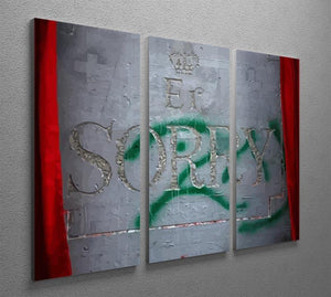 Banksy Apology Party For Palestinians 3 Split Panel Canvas Print - Canvas Art Rocks - 2