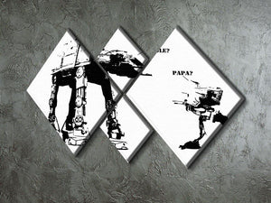 Banksy Atat 4 Square Multi Panel Canvas - Canvas Art Rocks - 2