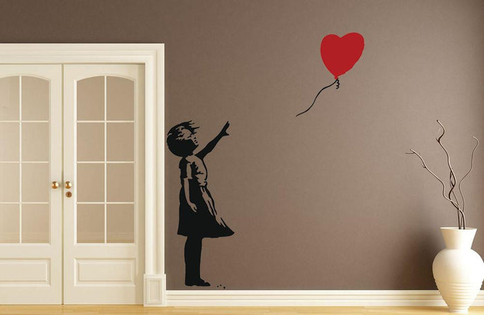 Banksy Balloon Heart Girl Wall Sticker